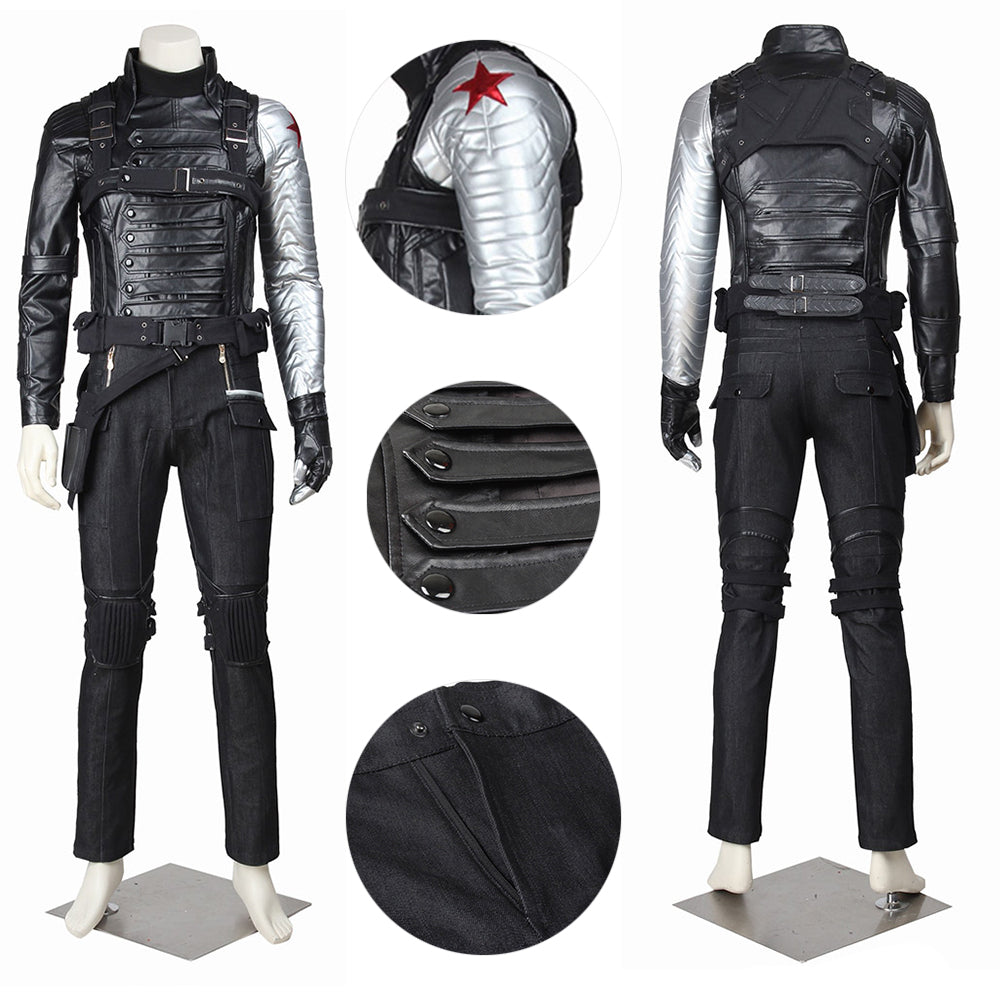 Winter Soldier Cosplay Costume Bucky Barnes Cosplay Suit