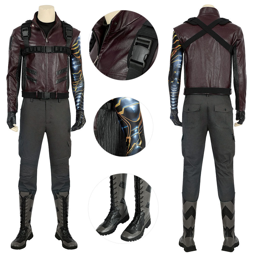 Winter Soldier Costume The Falcon and the Winter Soldier Male Suit For Cosplay