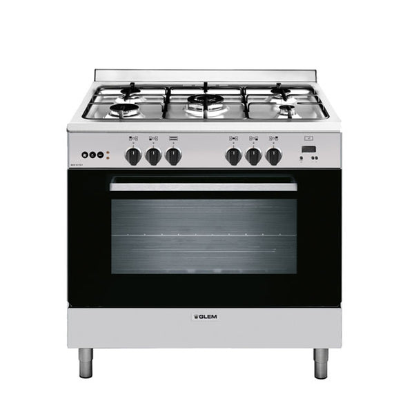 Glem GL965EI 90cm Stainless Steel Dual Fuel Stove