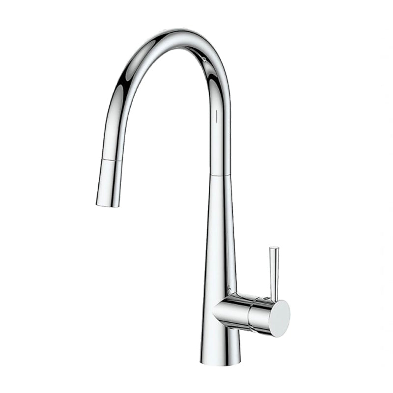 Greens Galiano 17520301 Gooseneck Pull Down Sink Mixer with Spray - Chrome