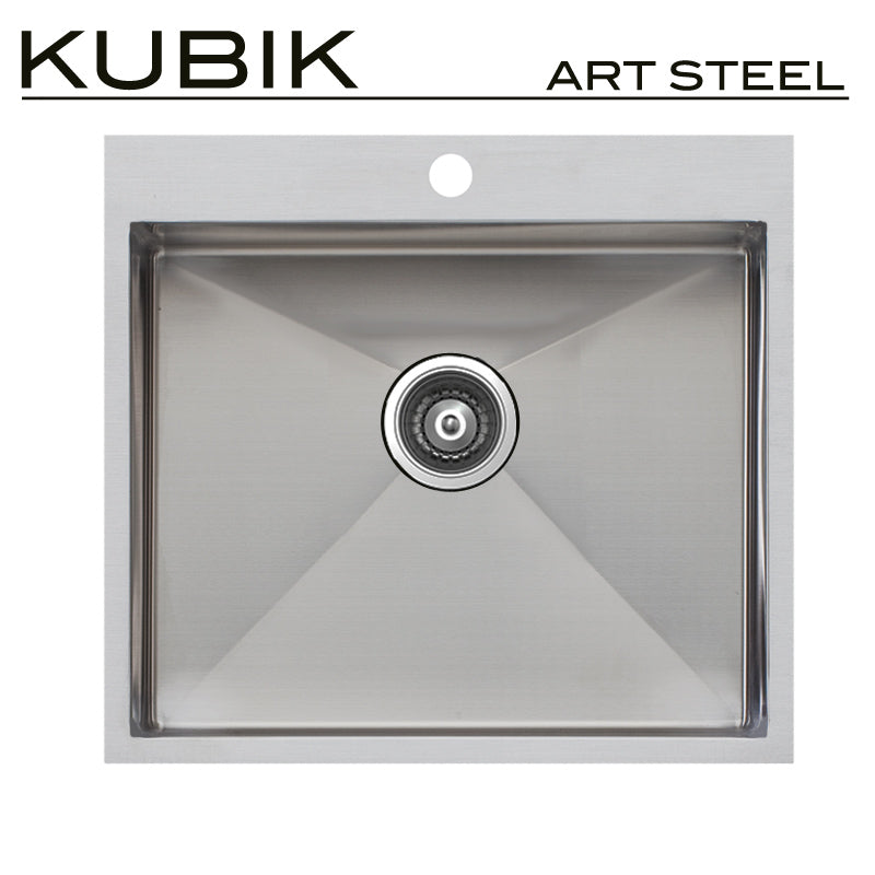 Kubik Artsteel ART5350r15 stainless steel sink