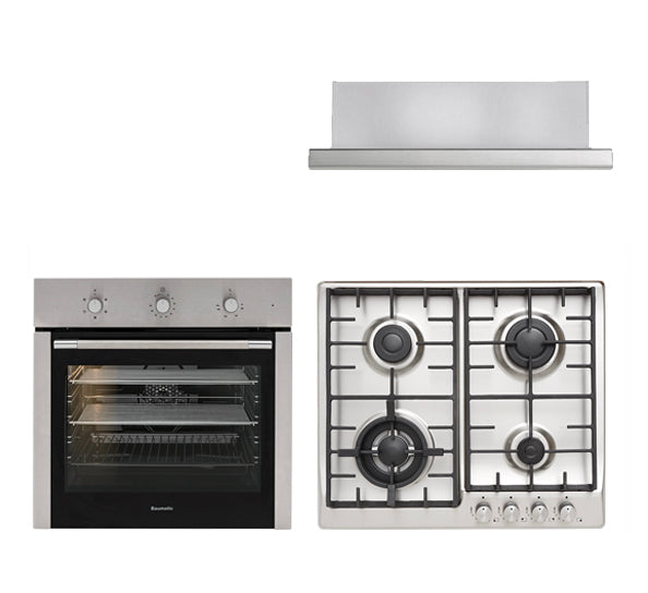 60cm Oven, Cooktop and Rangehood Package No.2