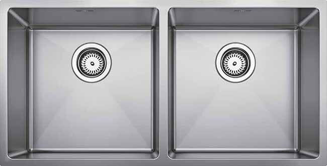 Blanco QUATRUSR15 340/340-IU Double Bowl Kitchen Sink