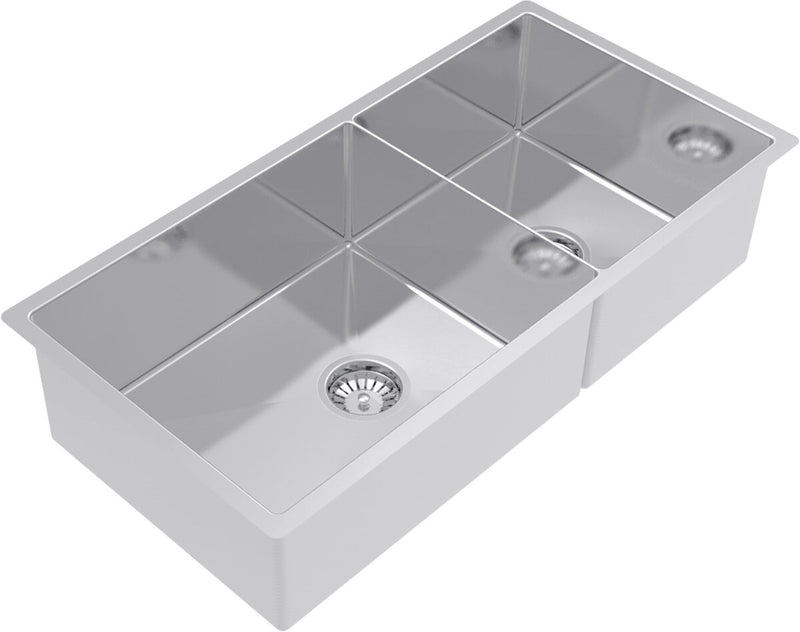 Abey CR500D Piazza 1 and 3/4 Double Bowl Sink