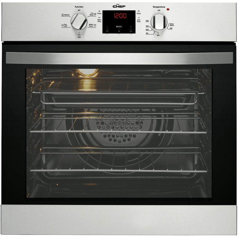 Chef CVE614SA 60cm Stainless Steel Electric Oven- Special Order