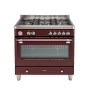 Euro Appliances ECSH900BG 90cm Dual Fuel Burgundy Royal Chiantishire