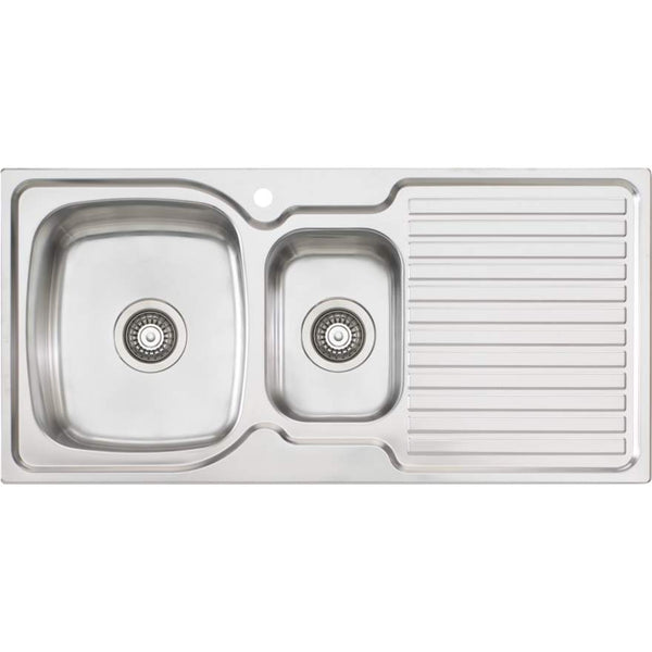 Oliveri Endeavour EE01 1 & 1/2 Bowl Sink With Drainer