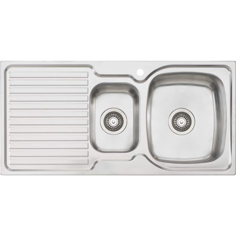 Oliveri Endeavour EE02 1 & 1/2 Bowl Sink With Drainer
