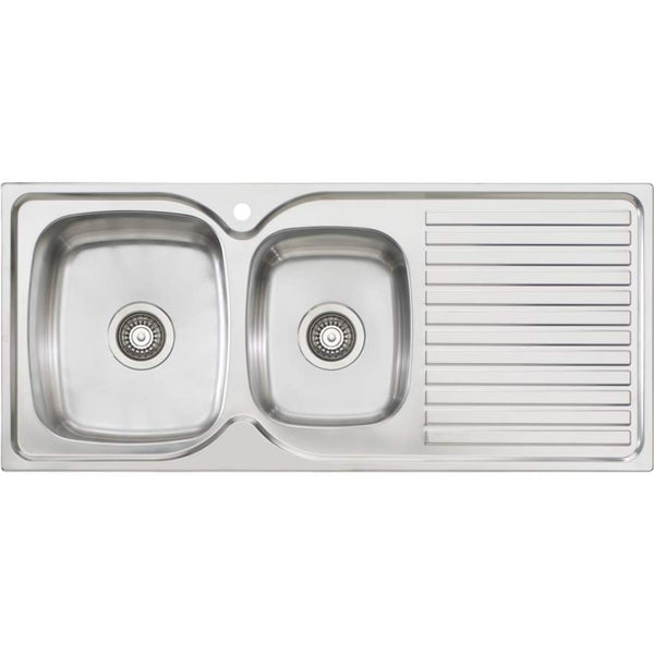 Oliveri Endeavour EE11 1 & 3/4 Bowl Sink With Drainer