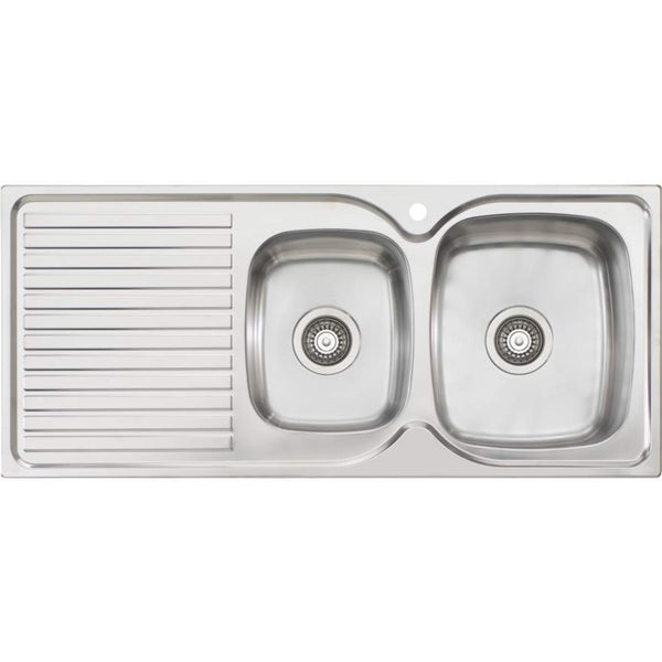 Oliveri Endeavour EE12 1 & 3/4 Bowl Sink With Drainer