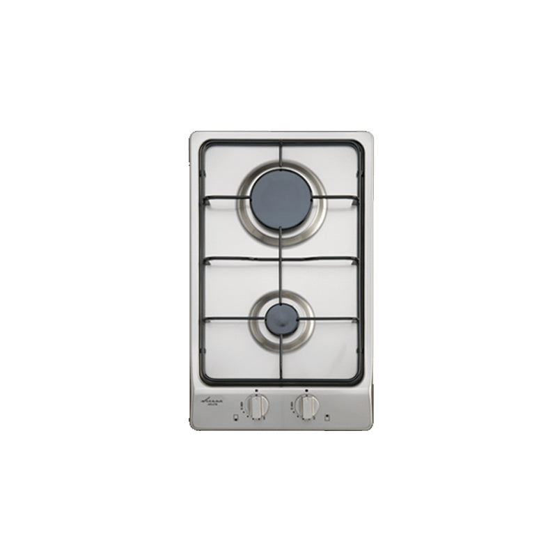 Euro Appliances EPZ2GFFDSS 30cm Stainless Steel Gas Cooktop