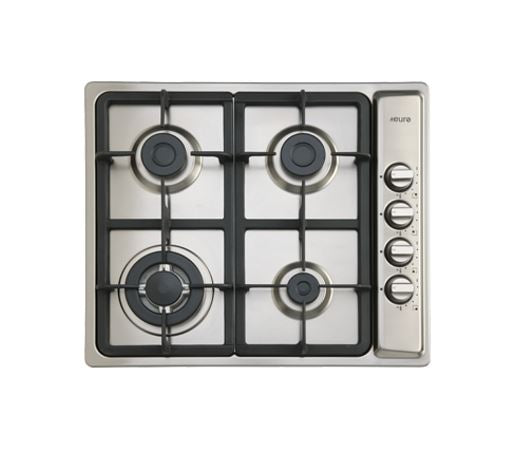 Euro Appliances EPZ3WGCTSS 4 Burner Stainless Steel Gas Cooktop