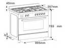 Euro Appliances Freestanding 90cm Stove Pack No.1