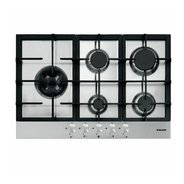 Glem FC75GSWI 75cm Stainless Steel Gas Cooktop