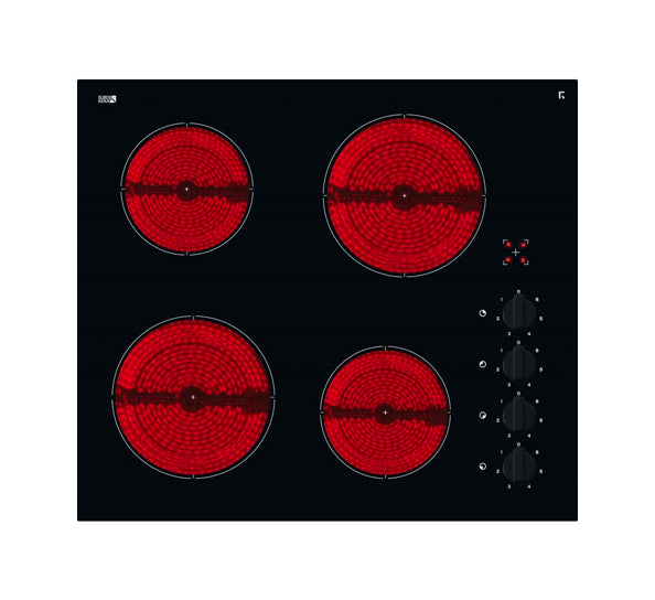 InAlto ICC604K 60cm Black Ceramic Glass Electric Cooktop