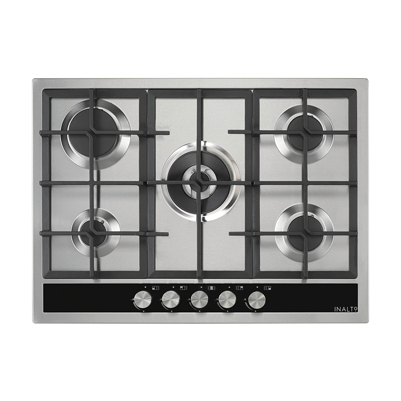 Inalto ICGW70S 70cm 5 Burner Stainless Steel Gas Cooktop