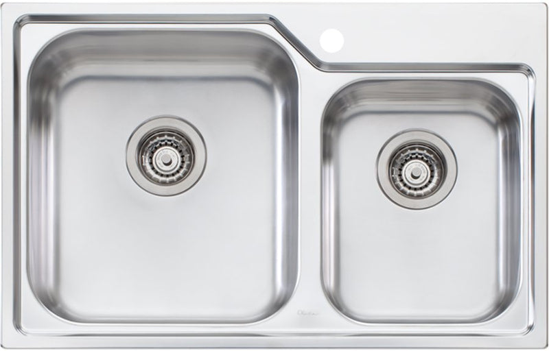 Oliveri NP615 Nu-Petite 1 and 3/4 Bowl Topmount Sink