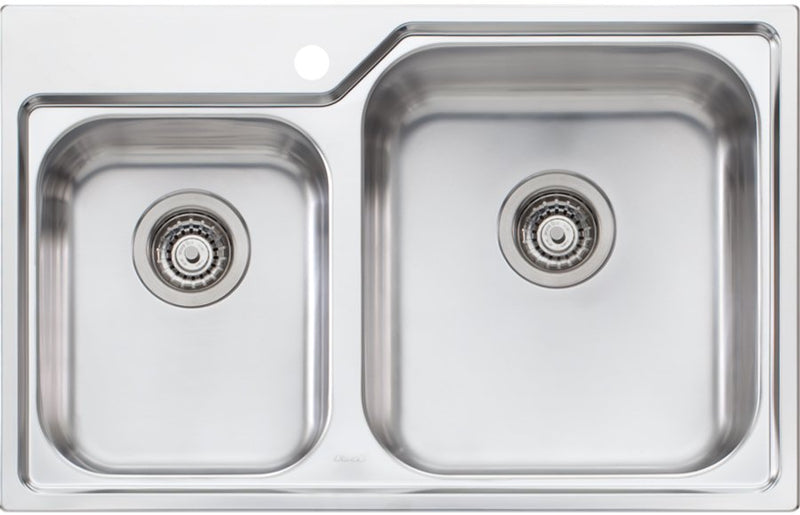 Oliveri NP616 Nu-Petite 1 and 3/4 Topmount Bowl Sink