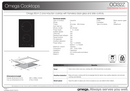 Omega OCI32Z 30cm Two Zone Induction Cooktop
