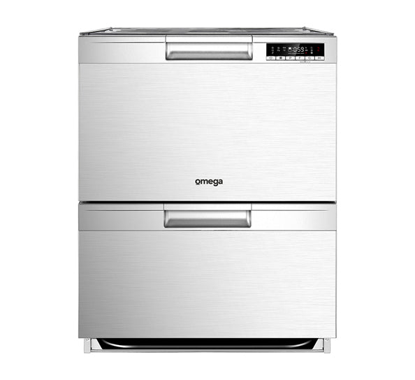 Omega ODD614X 60cm Double Drawer Dishwasher