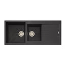 Oliveri Santorini ST-BL1510 Black Granite Top Mount 1 & 3/4 Sink