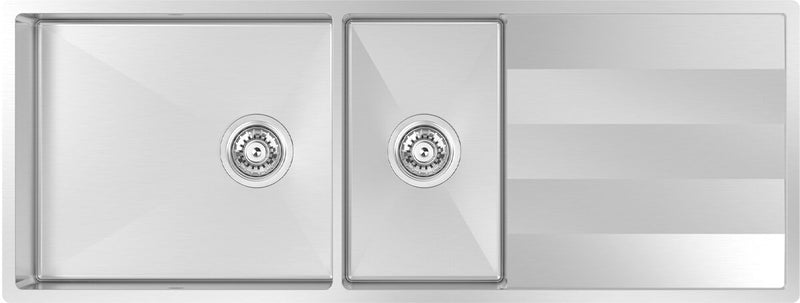 Abey ST460DU Lugano 1 and 3/4 Bowl Undermount Sink with Drainer
