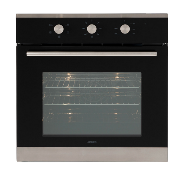 Euro Appliances EO604SX Black Glass Electric Oven
