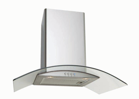 Euro Appliances EAGL700S 70cm Curved Glass Canopy Rangehood – New
