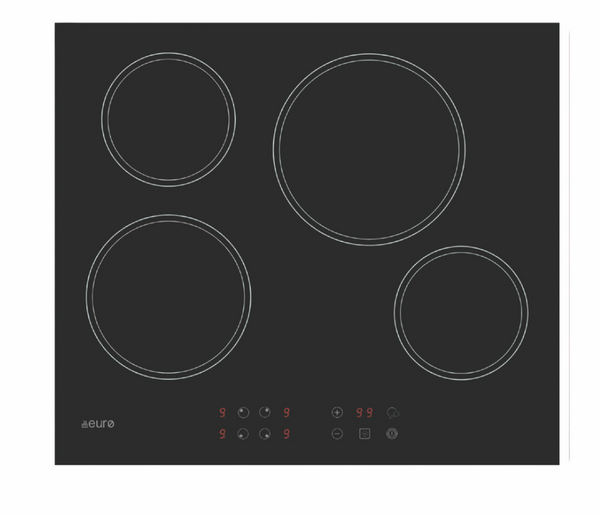 Euro ECT60CR Touch Control Electric Cooktop – New