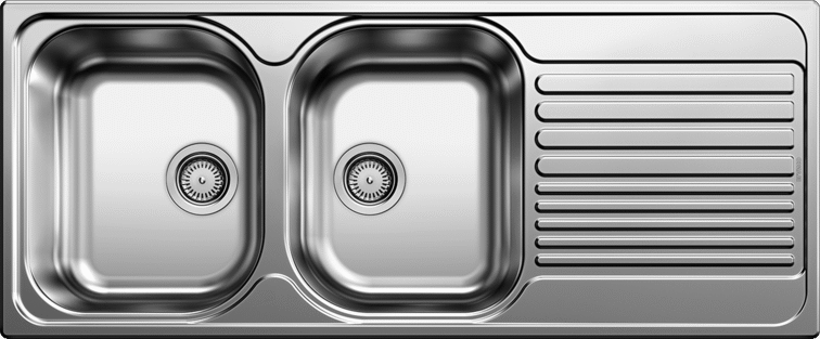 Blanco TIPO8SL Double Bowl Stainless Steel Sink