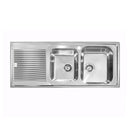 Abey Italian Made ZEN-2 1 and 3/4 Bowl Stainless Steel Sink