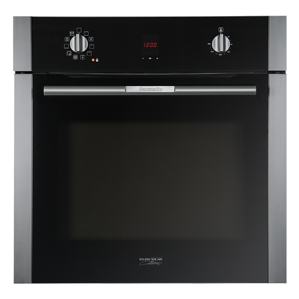 Baumatic BSPO610 Studio Solari Black Glass Pyrolytic Cleaning Electric Oven
