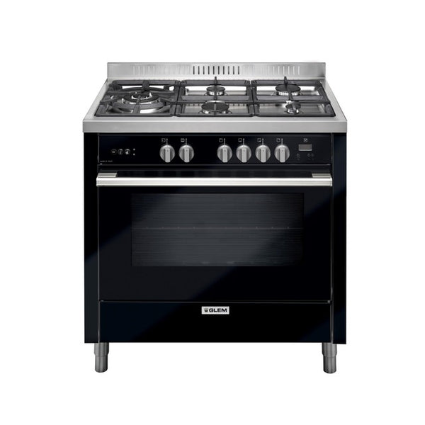 Glem IT965MVN2 90cm Black All Gas Stove