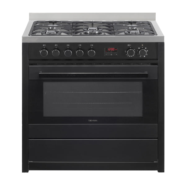 Technika 90cm TEG95TBK Dual Fuel Black Finish Upright Cooker