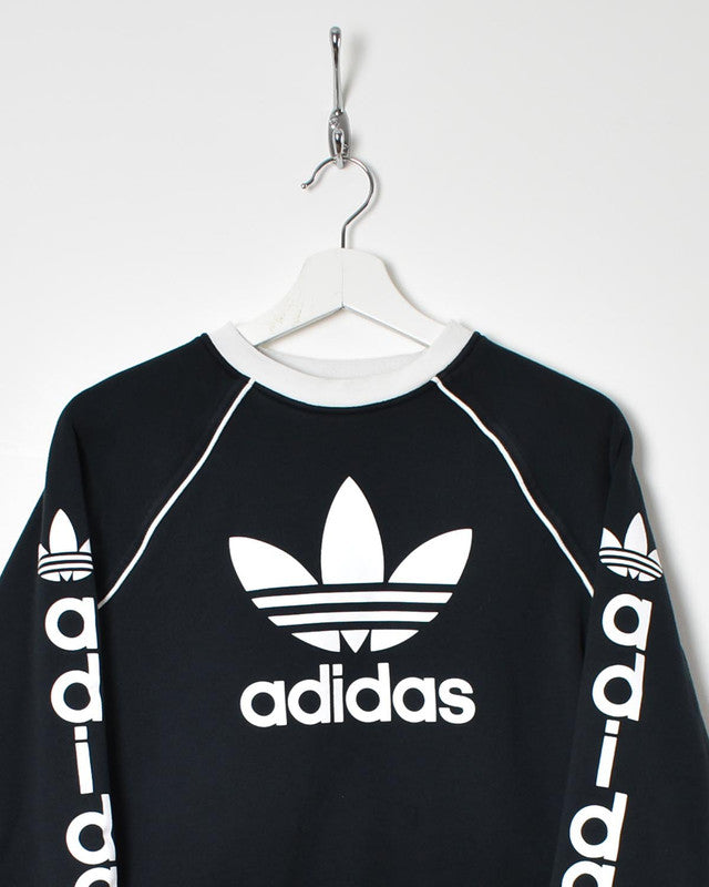 Adidas Women's Cropped Sweatshirt - Medium - Domno Vintage 90s, 80s, 00s Retro and Vintage Clothing