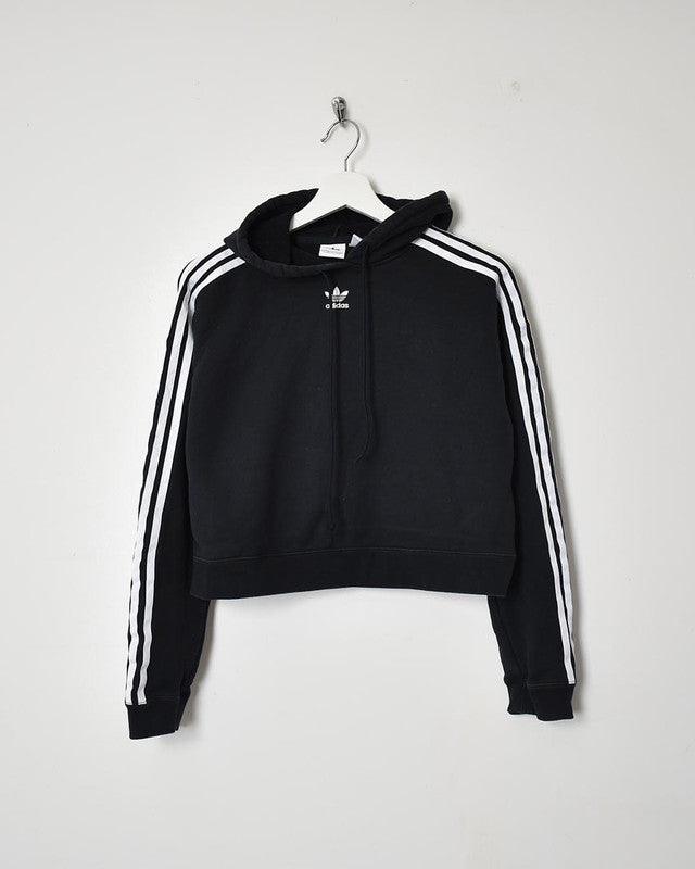 Adidas Women's Cropped Hoodie - Medium - Domno Vintage 90s, 80s, 00s Retro and Vintage Clothing