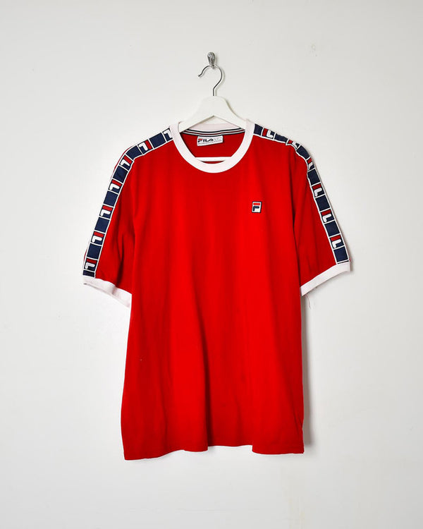 Fila T-Shirt - Large - Domno Vintage 90s, 80s, 00s Retro and Vintage Clothing