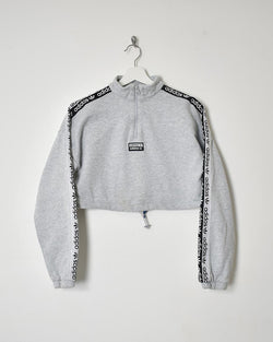 Adidas Women's Cropped Sweatshirt - X-Small - Domno Vintage 90s, 80s, 00s Retro and Vintage Clothing