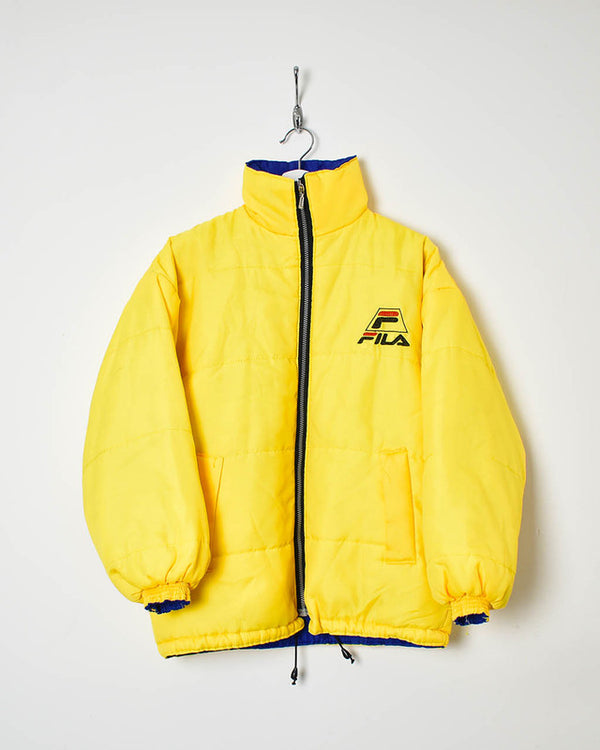 Fila Reversible Puffer Jacket - Small - Domno Vintage 90s, 80s, 00s Retro and Vintage Clothing