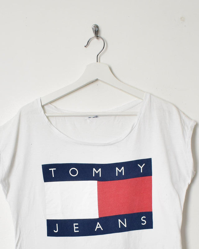 Tommy Jeans Women's T-Shirt - Medium - Domno Vintage 90s, 80s, 00s Retro and Vintage Clothing