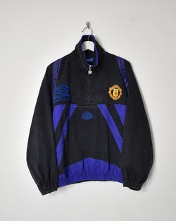 Umbro Manchester United Pullover Drill Jacket - Medium - Domno Vintage 90s, 80s, 00s Retro and Vintage Clothing