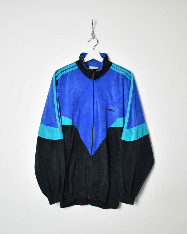 Adidas Velour Tracksuit Top - X-Large - Domno Vintage 90s, 80s, 00s Retro and Vintage Clothing