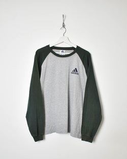 Adidas Long Sleeve T-Shirt - Large - Domno Vintage 90s, 80s, 00s Retro and Vintage Clothing