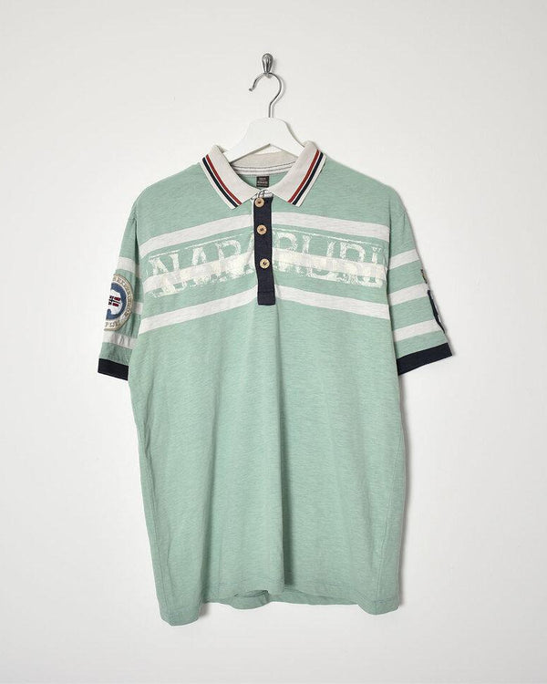 Napapijri Polo Shirt - X-Large - Domno Vintage 90s, 80s, 00s Retro and Vintage Clothing