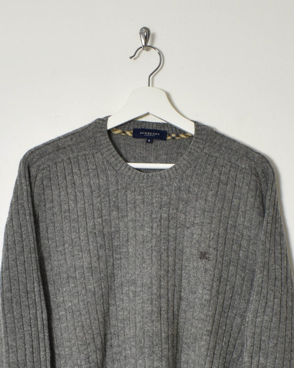 Burberry Women's Knitted Sweatshirt - Large - Domno Vintage 90s, 80s, 00s Retro and Vintage Clothing