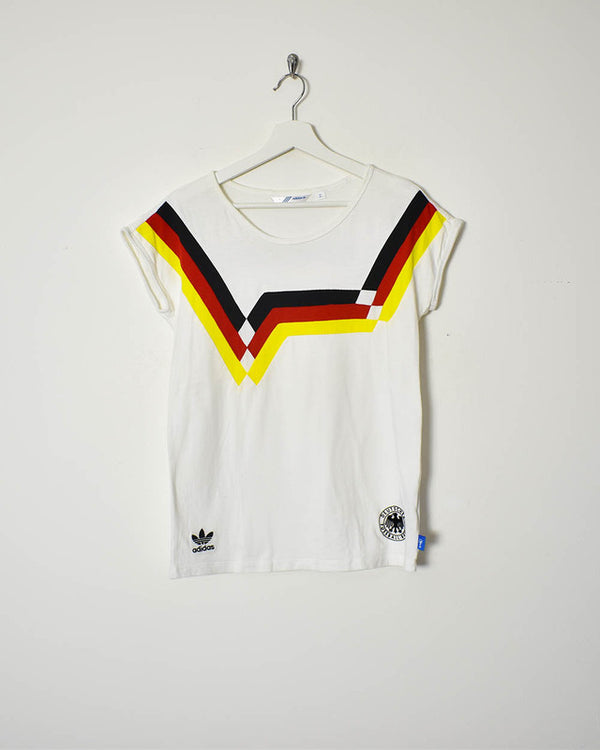 Adidas Germany Women's T-Shirt - Small - Domno Vintage 90s, 80s, 00s Retro and Vintage Clothing