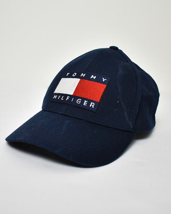 Tommy Hilfiger Hat - Domno Vintage 90s, 80s, 00s Retro and Vintage Clothing