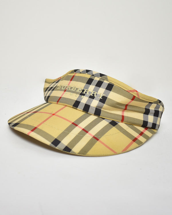 Burberry Golf Visor Hat - Domno Vintage 90s, 80s, 00s Retro and Vintage Clothing