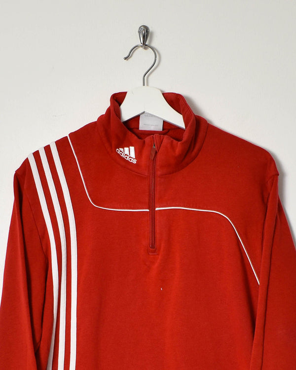 Adidas 1/4 Zip Sweatshirt - Medium