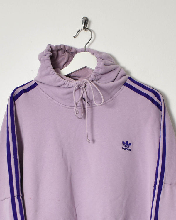 Adidas Women's Cropped Hoodie - X-Large